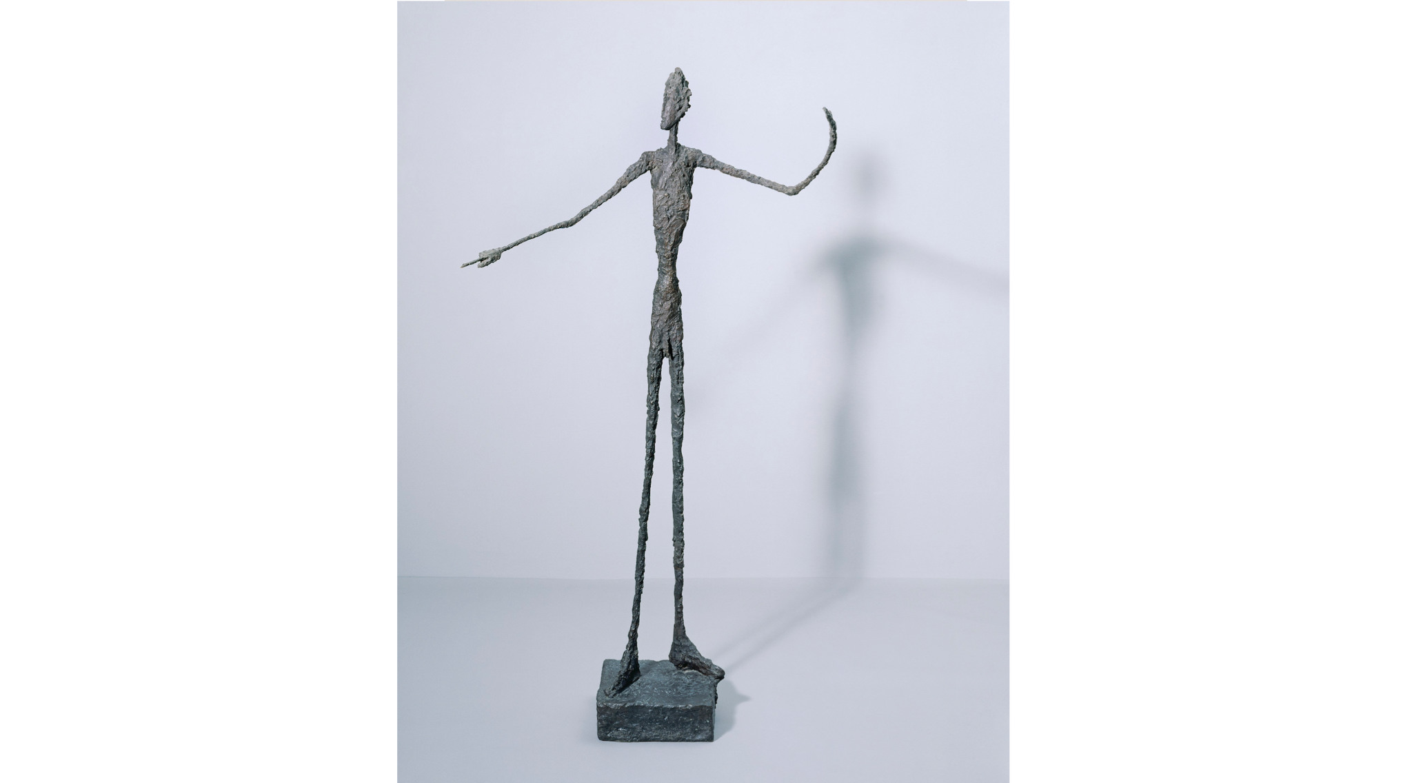 'Man Pointing', 1947 by Alberto Giacometti