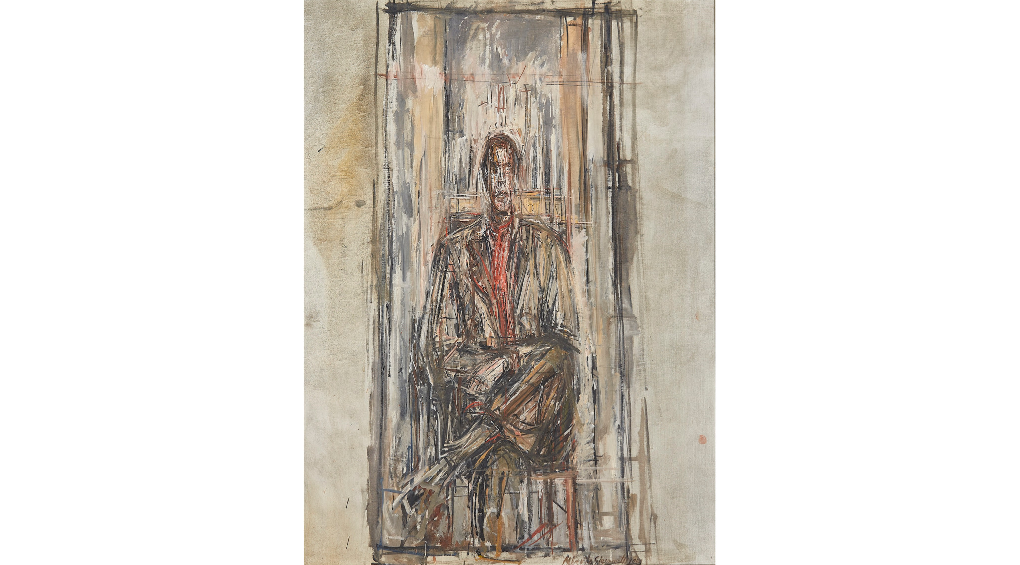 'Diego Seated', 1948 by Alberto Giacometti