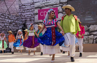 Danza folclórica en el Zócalo