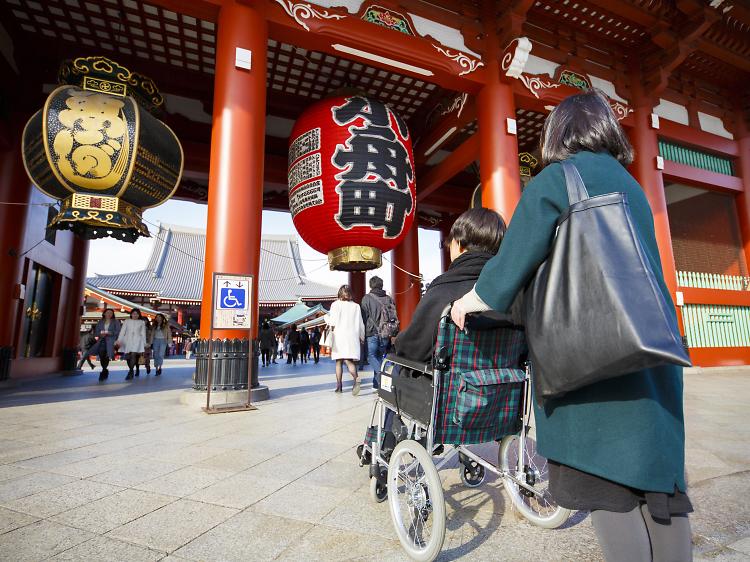 東京、車椅子対応スポット