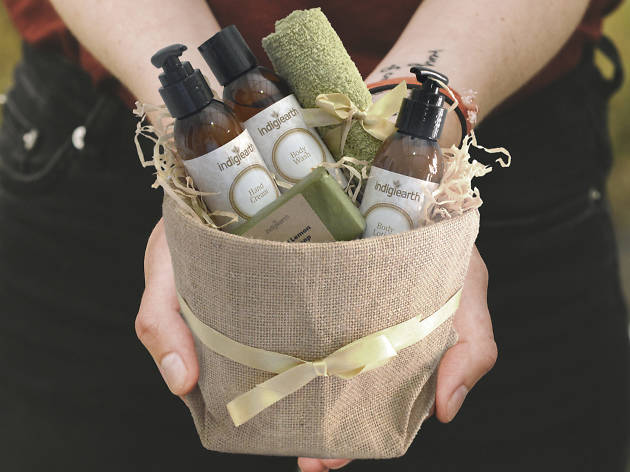 Basket of products from Indigiearth