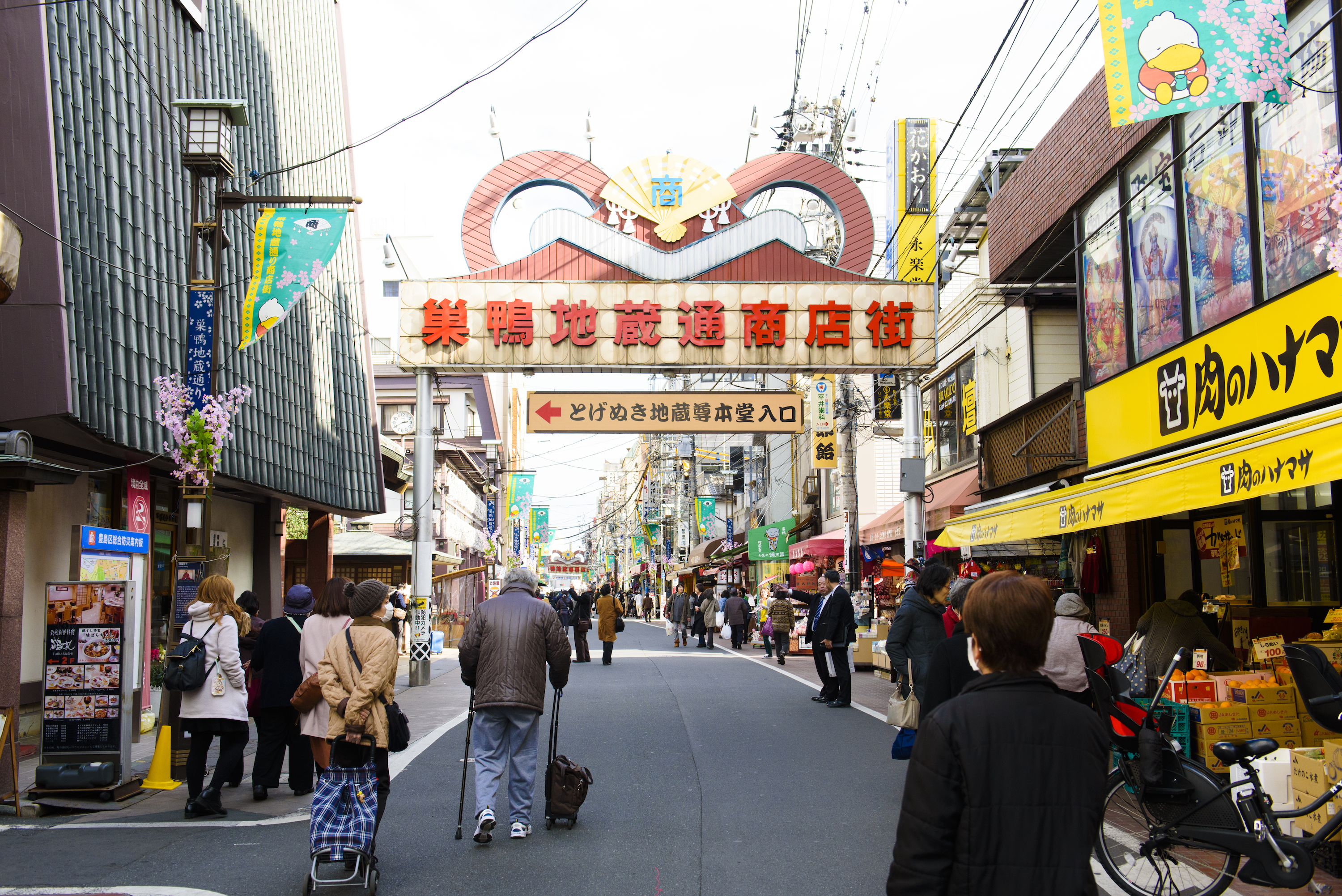 Why is Sugamo known as 'Harajuku for grannies'?