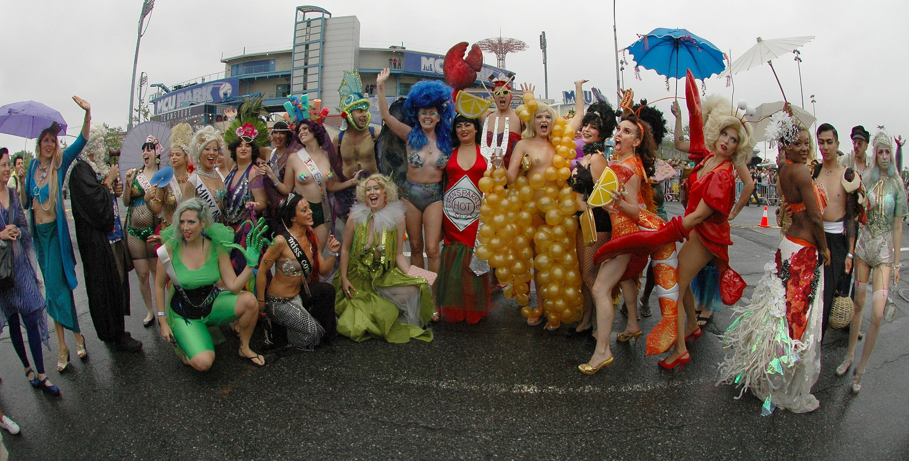Image result for coney island mermaid parade children
