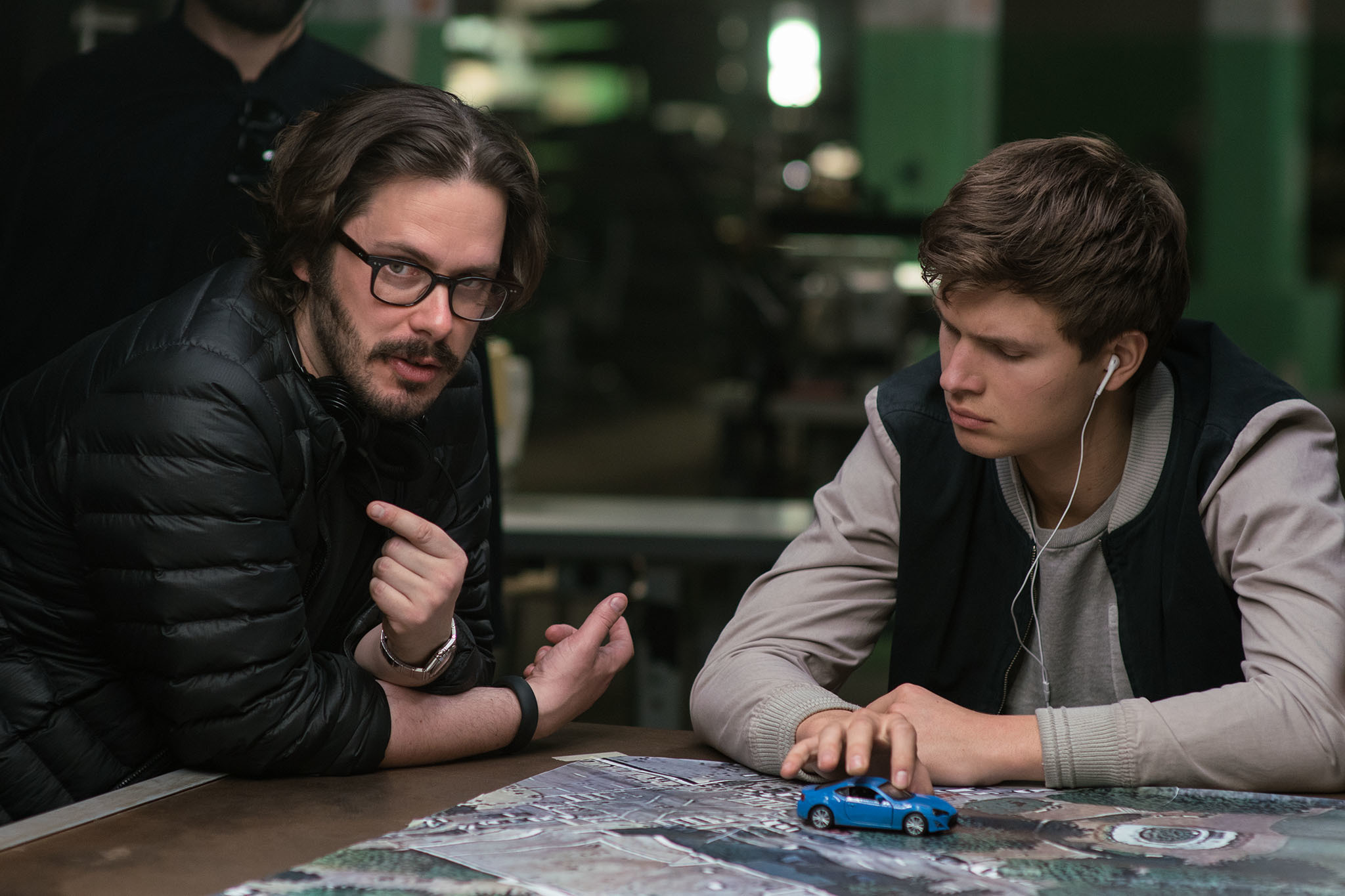 Edgar Wright and Ansel Elgort on Baby Driver
