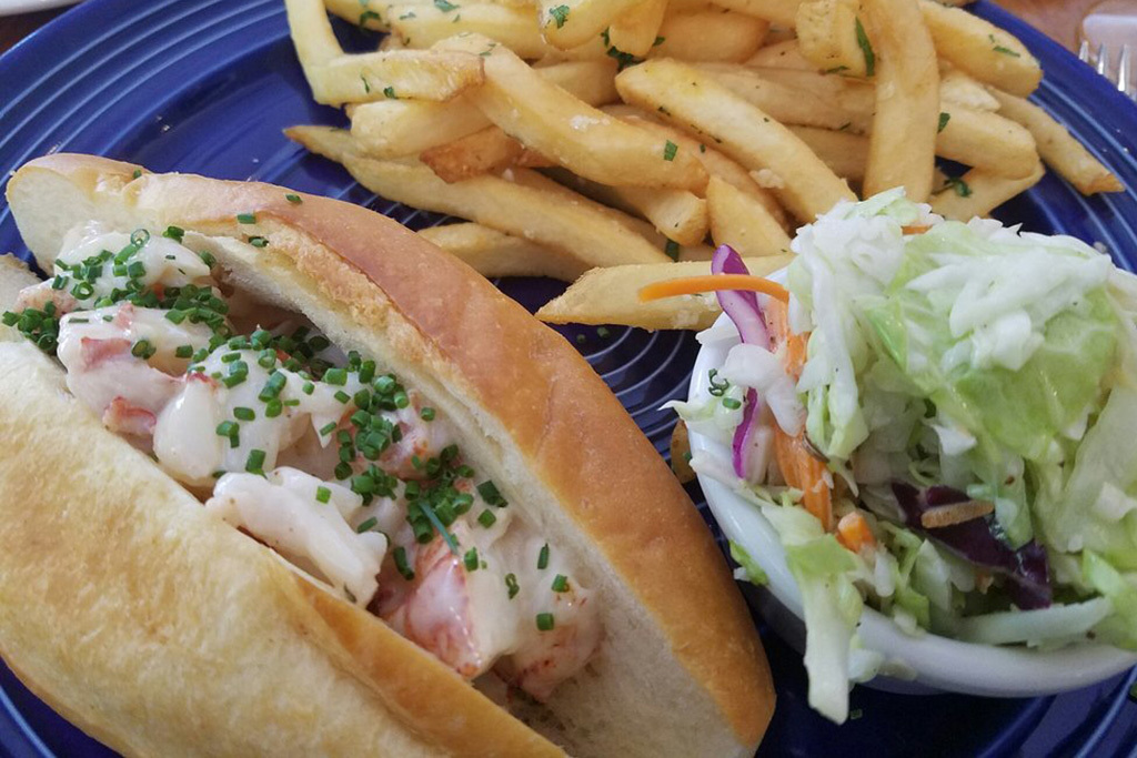 Lobster roll at Walnut Creek Yacht club