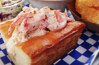 lobster roll at new england lobster market