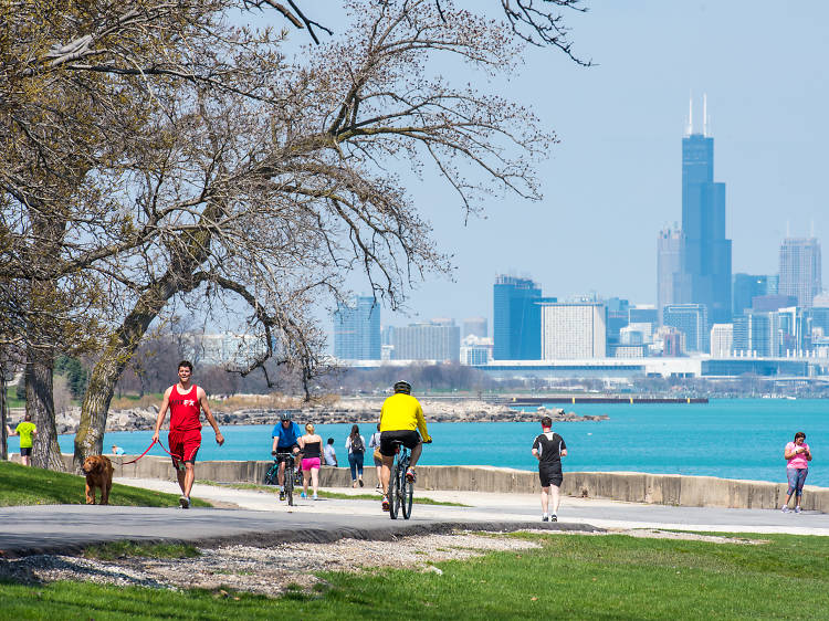 Take in the skyline from Promontory Point