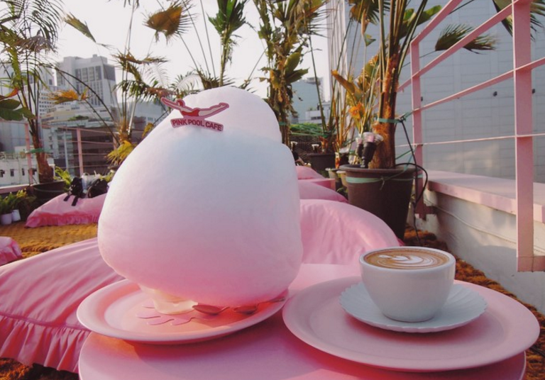 Stylenanda Pink Pool Cafe's Cotton Candy Latte