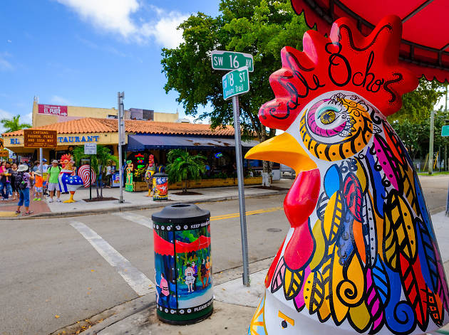 Stroll down Calle Ocho in Little Havana