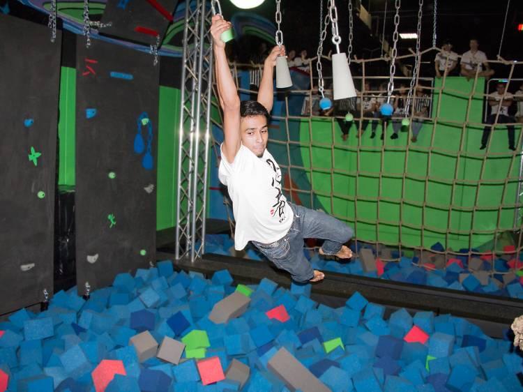 Trampolining and athletics