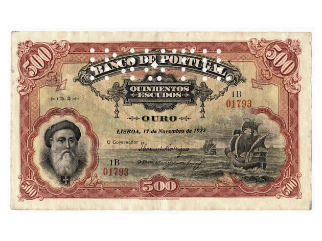 nota de alves dos reis no museu do dinheiro