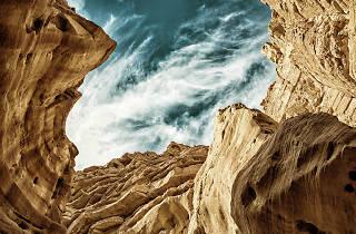 Red Sandstones in Eilat Mountains