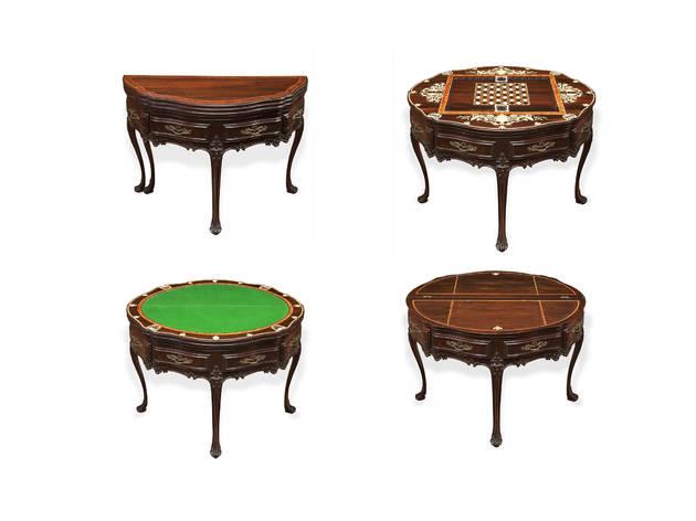 mesa de 4 tampos na casa museu medeiros de almeida