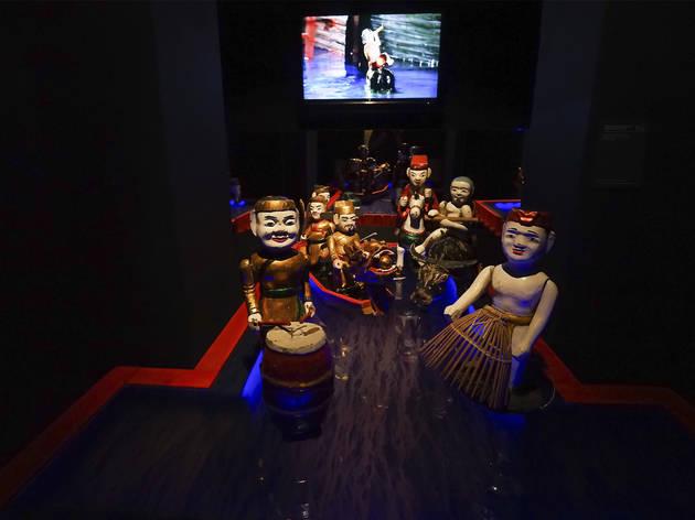 marioneta de água no museu da marioneta