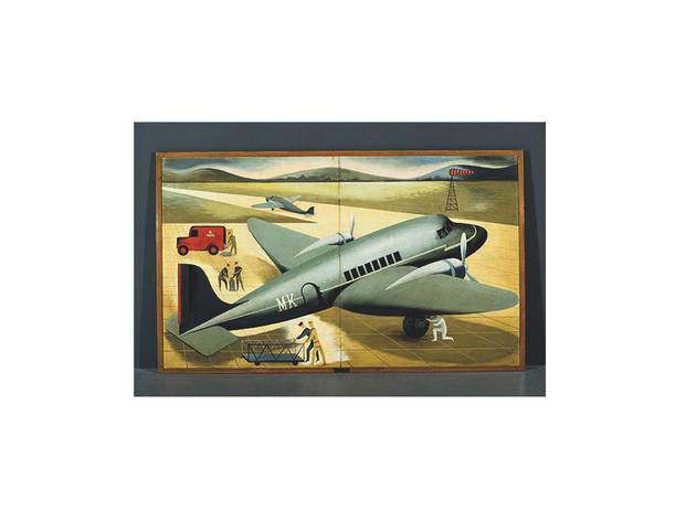 transporte aéreo de maria keil do amaral no museu das comunicações