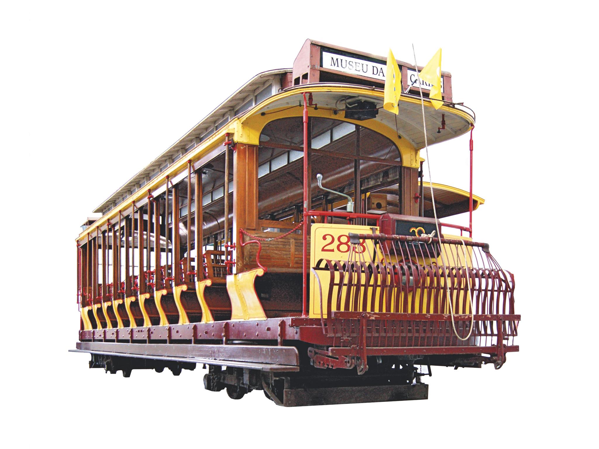 elétrico n 283 no museu da carris