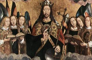 Hans Memling - Cristo Rodeado de Anjos Musicais