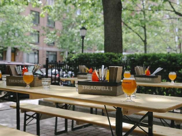 See FiDi\'s new waterfront beer garden before it opens this Friday