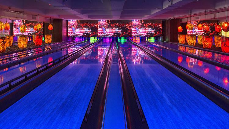 Tikitiki Bowling Bar bowling lanes