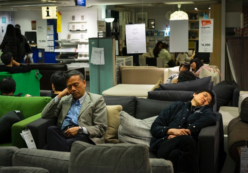 Sleeping in Ikea