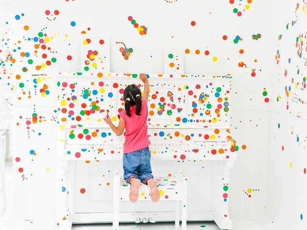YayoiKusama_The Obliteration Room, Children's Biennale in National Gallery