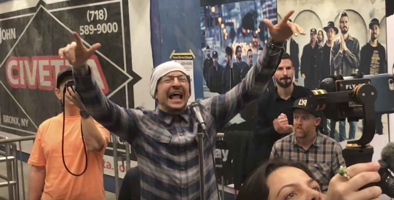 "Watch Linkin Park perform ""In the End"" at Grand Central"