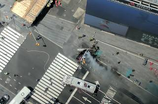 Times Square shut down after a fatal car accident