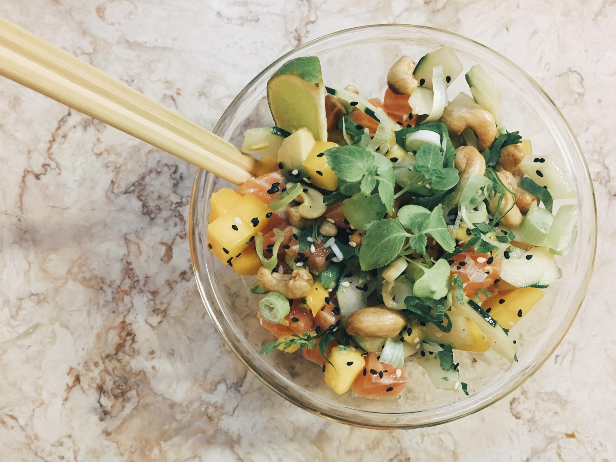 Poké bowls sea by local your healthy kitchen no palácio chiado