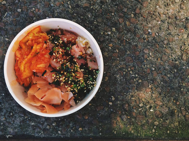 Poke bowl at Blue Hawaii Acai Cafe