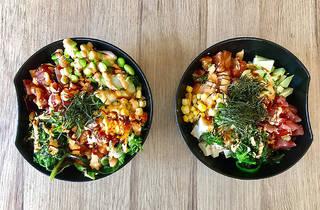 Poke bowl at Amitis Cafe