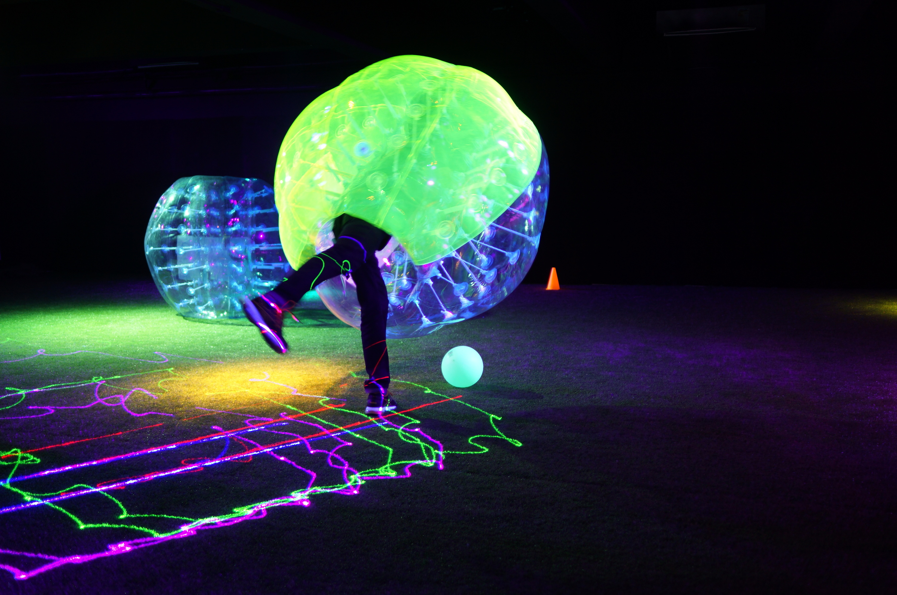 Bubble Soccer and Neon Sabre