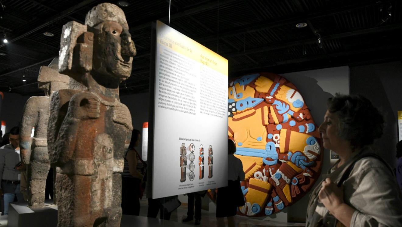 Nuestra sangre. Nuestro color: La escultura polícroma de Tenochtitlán