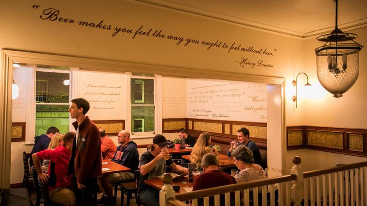 Seated area at Harts Pub