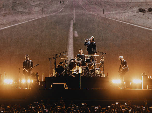 U2 delivered an epic and timely spectacle at the Rose Bowl Stadium