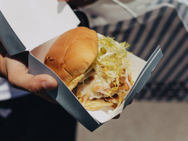 The NoMad (Chicken Truffle Burger) at NoMad Truck
