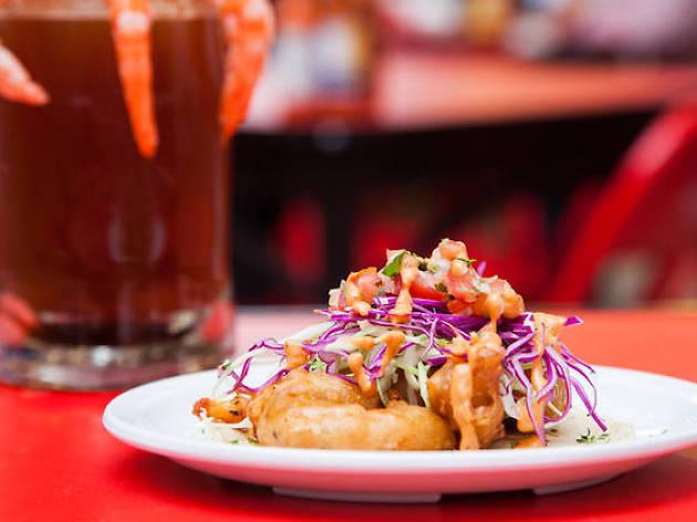 Tacos de mariscos en la CDMX