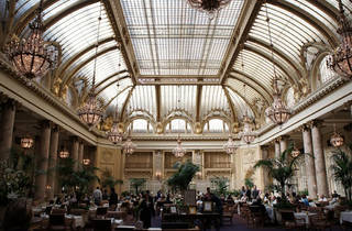 The Garden Court inside the Palace Hotel