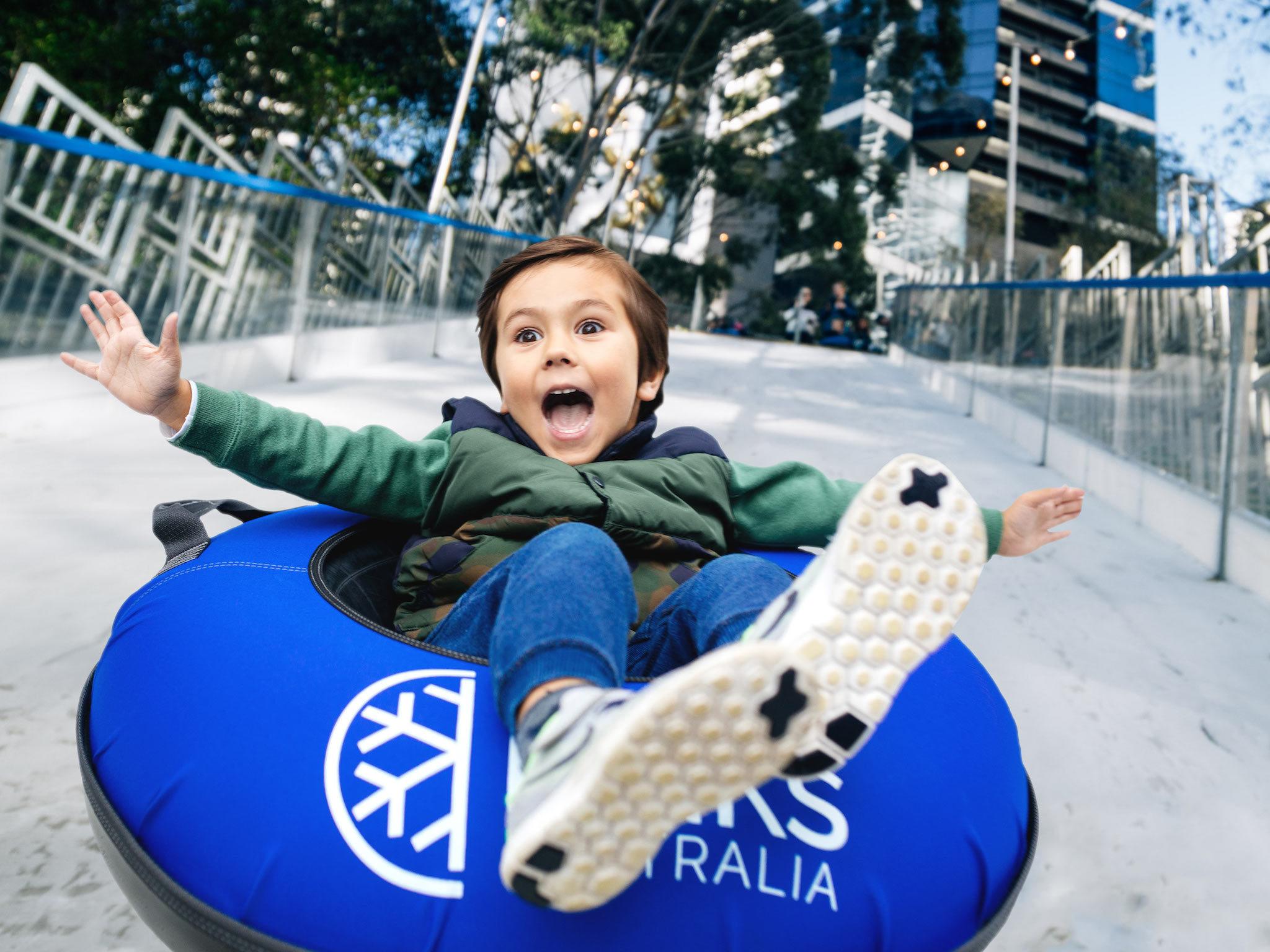 Melbourne Ice Slide at Eureka Skydeck