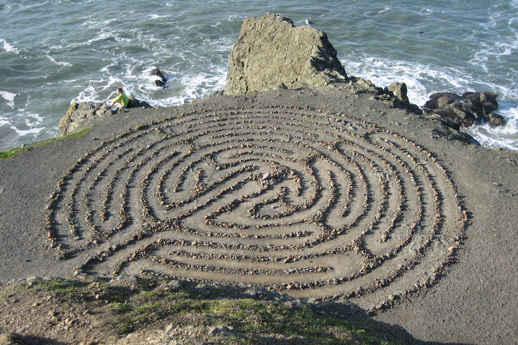 Lands End labyrinth at Mile Rock Beach