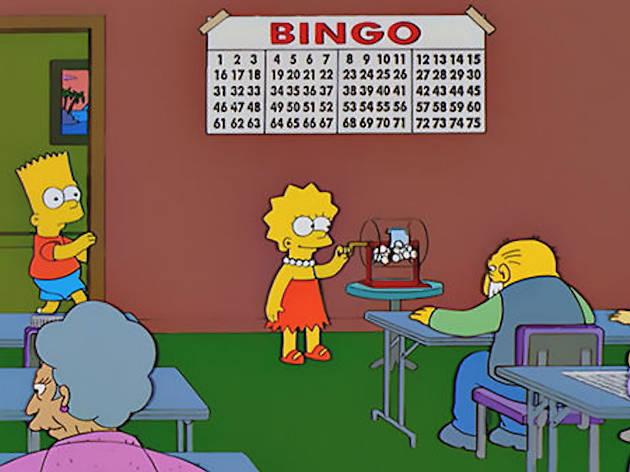 Bingo, The Simpsons
