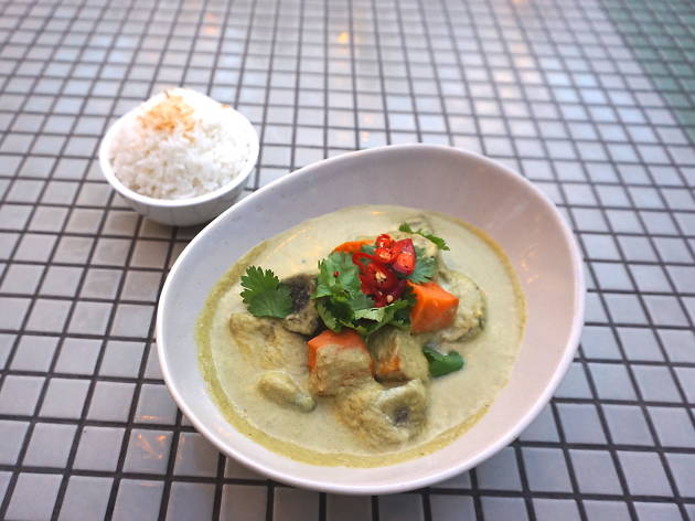 Thai green curry at The National Hotel
