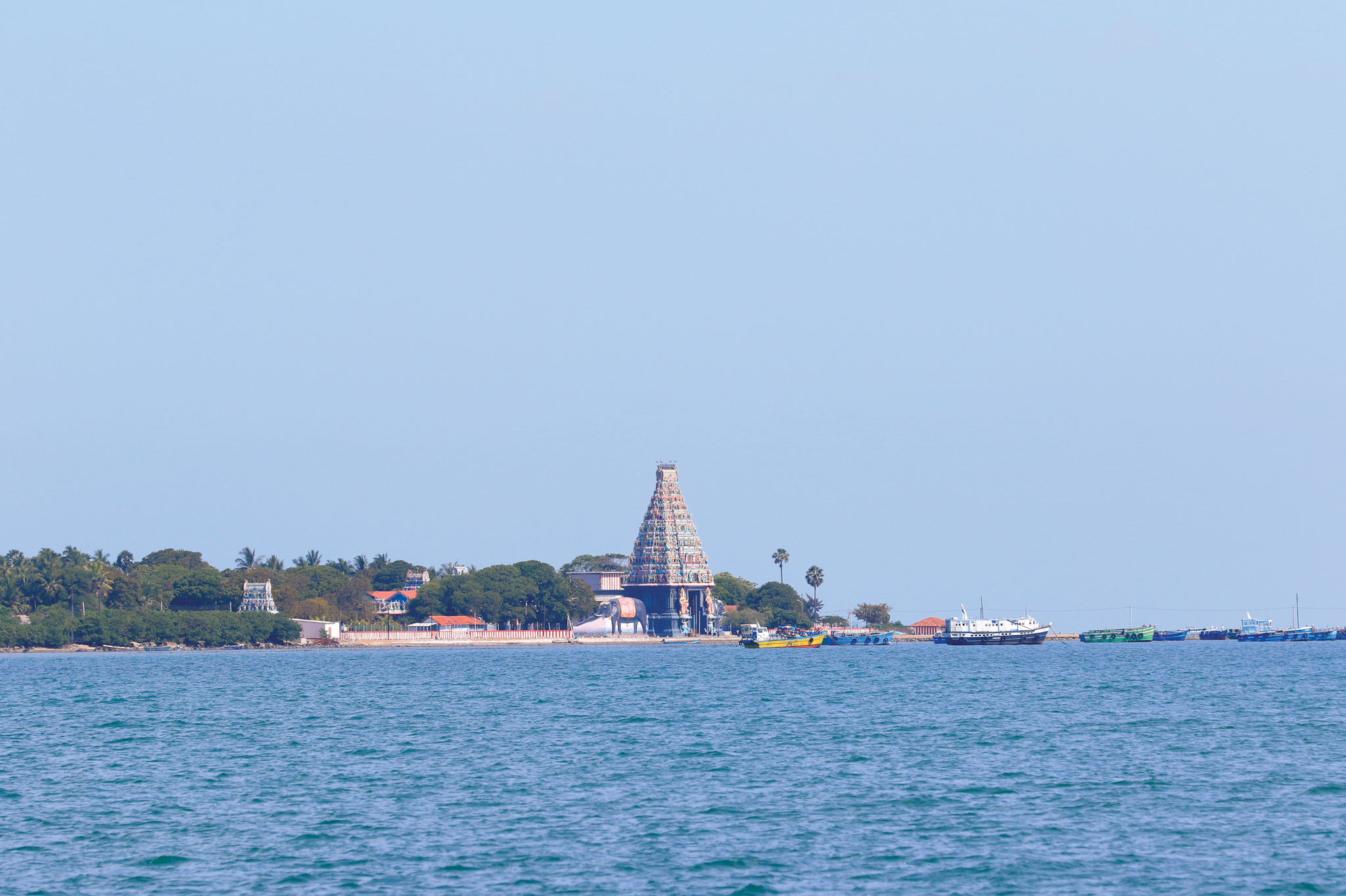 Take a boat to the Island of Nainativu (Nagapooshani Amman Kovil Festival)