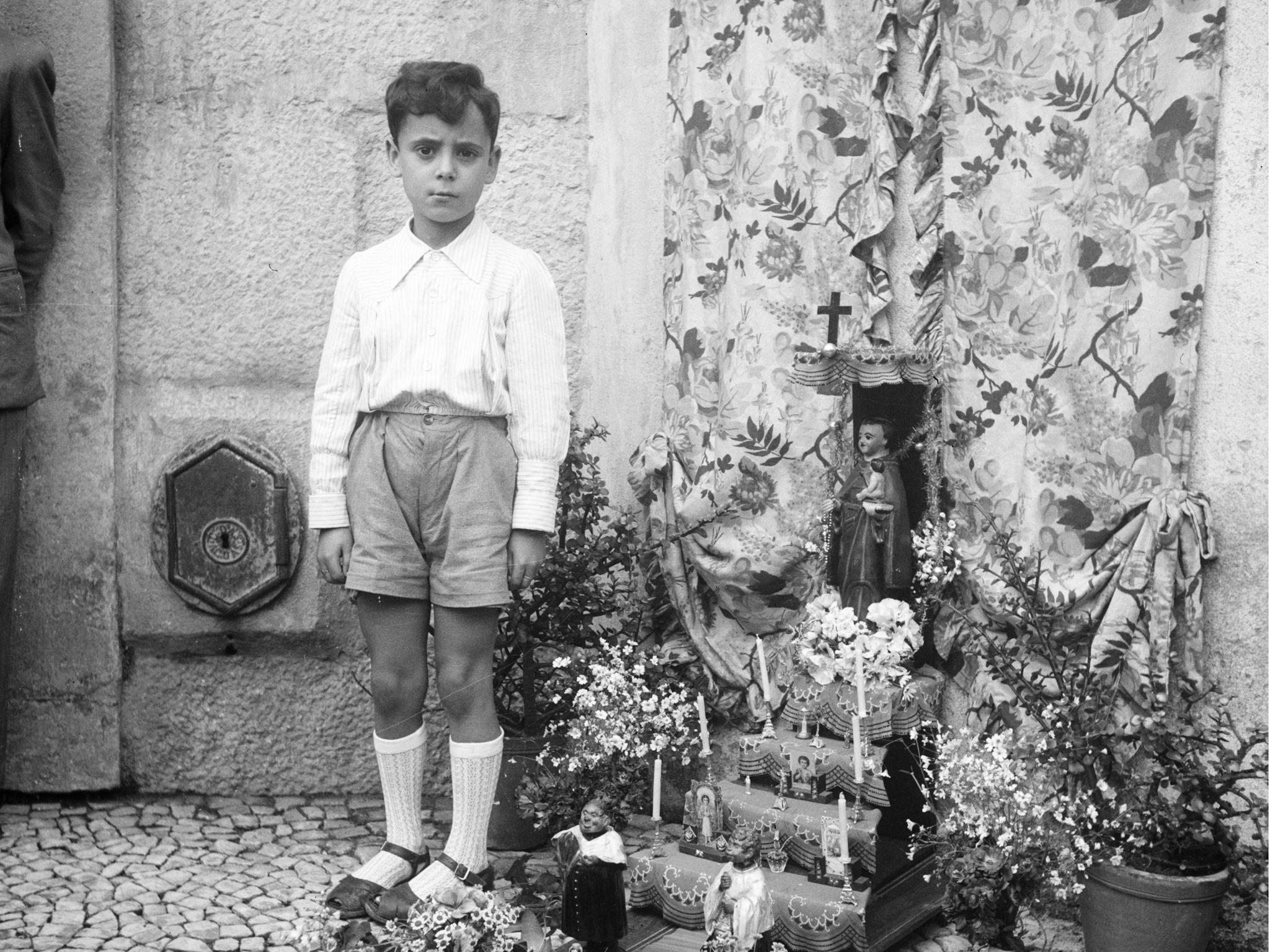 Festas populares, trono de Santo António, 1950