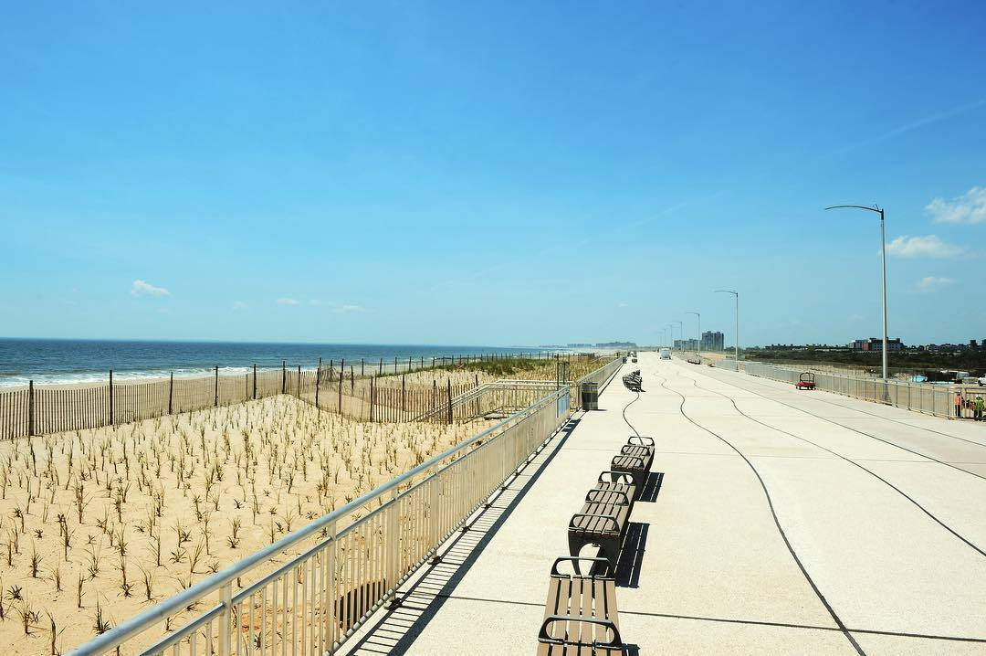 The Rockaway Beach boardwalk has finally been rebuilt after Hurricane Sandy