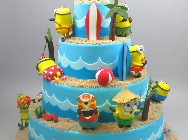 Boy First Birthday Cake Chevron