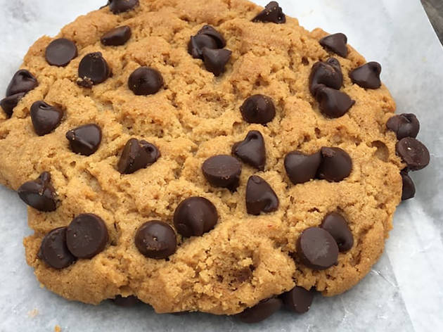 Peanut butter chocolate chip cookies at Devil's Teeth Baking Com