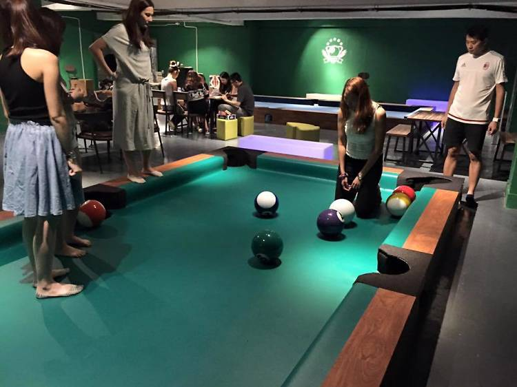 Try a giant game of pool