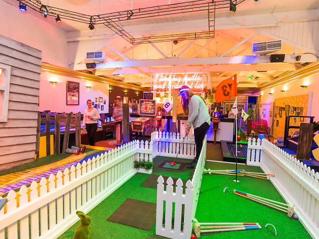 The holes at Holey Moley, ranked from most fun to least fun