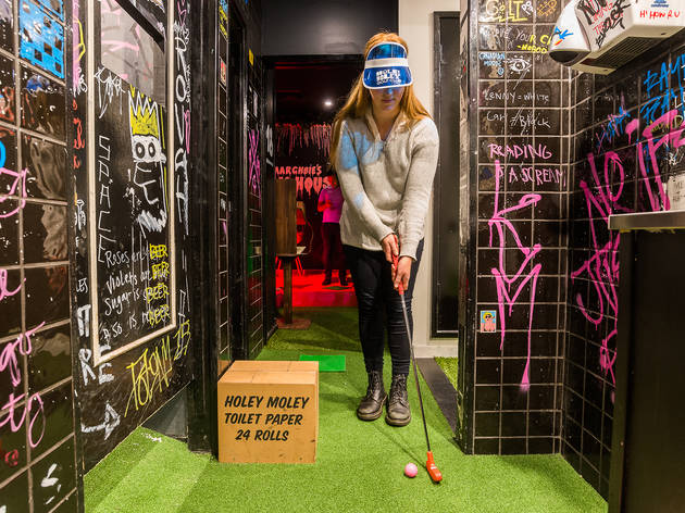 It's par-tee time: Holey Moley are running a mini golf tournament