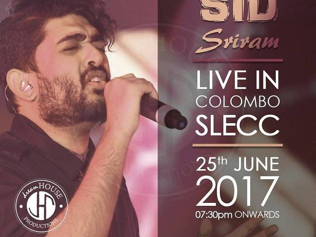 Sid Sriram to perform in Colombo